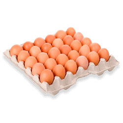 Huevos rojos A bandeja