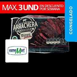 Res - Arrachera Marinada aprox 1Kg CarneMart