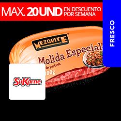 Molida Mixta Res y Cerdo 400g Mezquite