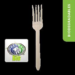 Tenedor Biodegradable Paquete x 25 Piezas