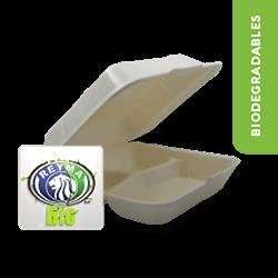 Contenedor biodegradable 8x8 con division - Reyma